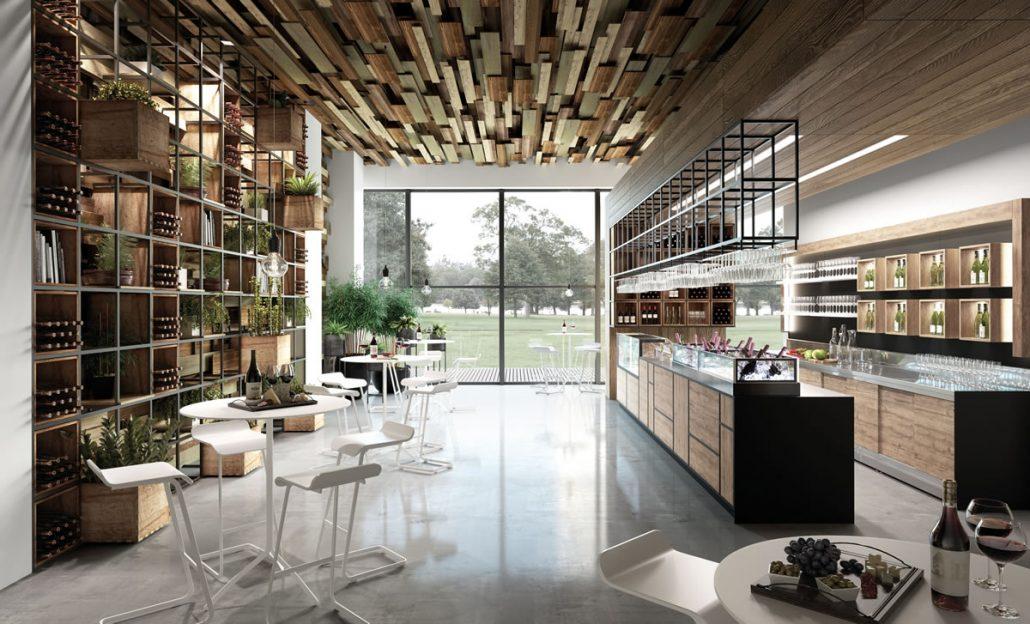 Allestimento mobili per enoteca, arredamento vineria e wine bar ...